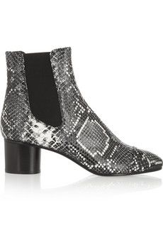 Isabel Marant Danae snake-effect leather ankle boots | NET-A-PORTER