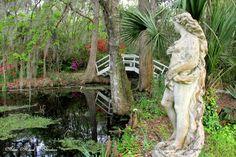 #garden #statue  Magnolia Plantation & Gardens