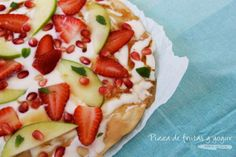 Pizza de Frutas y Yogur