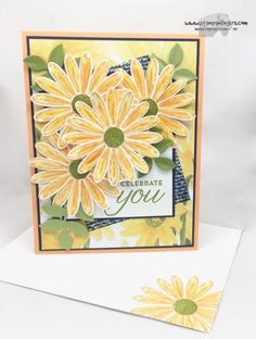 Stampin' Up! Birthday Cards For Women, Handmade Birthday Cards, Daisy Delight Stampin' Up, Sunflower Cards, Stampinup, Stamping Up Cards, Get Well Cards, Pretty Cards, Cool Cards