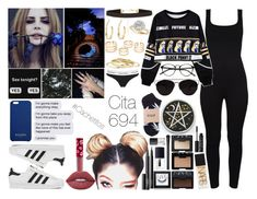 """""""Cita 694"""" by cate-ferrari ❤ liked on Polyvore featuring Chicnova Fashion, NARS Cosmetics, Lime Crime, Balmain, New Look, adidas, Minor Obsessions, Vince Camuto, Allurez and Calvin Klein Underwear"""