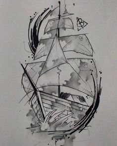 #ship #boat #tattooship #tattoo #tattooed #tattoos #watercolor #watercolortattoo #sonniewayan #bloinktattoo #bloink by bloinktattooaddicted