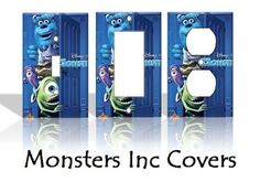 Monsters Inc Disney Light Switch Covers Wallplates Switchplates Home Decor Outlet 14 STYLES AVAILABLE $7