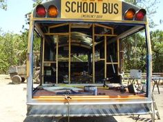 For Sale School Bus converted to RV! In Antigua, Guatemala School Bus Tiny House, School Bus Camper, Rv Bus, Converted Bus, Classic Campers, Bus Living, Overland Trailer, Short Bus, School Bus Conversion