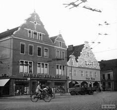 Insterburg, Alter Markt - Bürgerhäuser an der nordwestlichen Straßenfront
