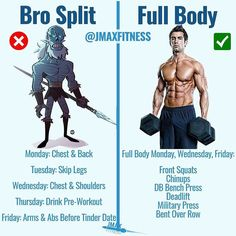BRO SPLIT VS FULL BODY by @jmaxfitness - STOP what you're doing and claim your FREE FULL BODY WORKOUT via the link in my bio. - Do you want to be a Bro like my Whitewalker friend here? Or do you want to get jacked? - Here's the deal if you haven't gained your first 20-30lbs of muscle yet then the easiest and quickest way to do so is via a full body routine. - Take advantage of your newbie gains and use a full body workout. Research shows that beginners can gain 20-30lbs of muscle in a single…