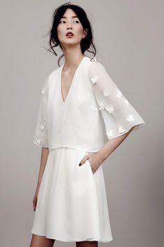 kaviar gauche couture bridal 2015 papillon sleeve mini dress kimono sleeves v neckline -- Kaviar Gauche 2015 Wedding Dresses Dress Vestidos, Women's Dresses, Short Dresses, Long Gowns, Couture Dresses, Couture Collection, Bridal Collection, Dress Collection, 2015 Wedding Dresses