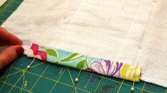 Burp cloth tutorial using cloth diapers.