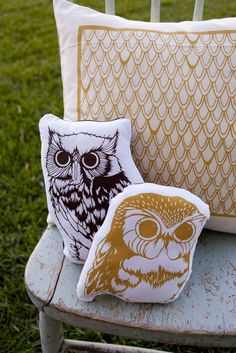 owl pillow :]