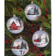Home for All Seasons 5 Christmas Tole Painting Patterns Cottages Cabins Barns