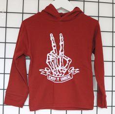 HALLOWEEN KIDS HOODIE- handmade lightweight hoodie. Creeping' it unreal. Perfect kids halloween outfit! Just £16.