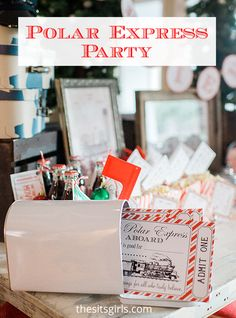 Polar Express Party Ideas | From food to favors, decor, and the cutest printables you've seen, everything you need to throw the perfect Polar Express Party is here.