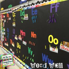 Love this colorful classroom word wall from Kindergarten Smorgasboard!