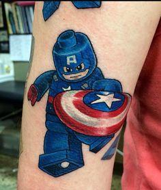 Captain America Lego tattoo