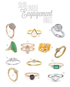 25 Unique Engagement Rings | Green Wedding Shoes Wedding Blog | Wedding Trends for Stylish + Creative Brides