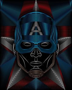 Captain America Art Print by Nathan Owens