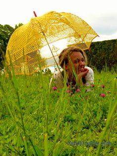 Wedding lace Crochet umbrella, yellow handmade parasol, Crocheted cotton umbrella, Wedding Sun Umbrella, Wedding Accessories