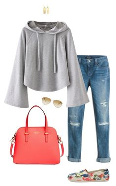"""""""Everyday casual"""" by abmcgrath ❤ liked on Polyvore featuring White House Black Market, TOMS, Kate Spade and Oliver Peoples"""