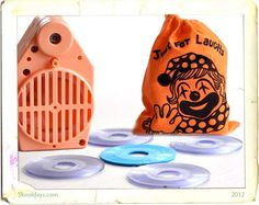 Anyone remember the 70s Laughing Bag? We had one--of course. It was pretty ridiculous and you had to laugh.  It was powered by a battery. It was contageous as after a few seconds someone would also start laughing. Before you know it everyone in the room starts wetting themselves with laughter.