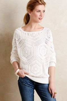 Closed Openweave Jacquard Pullover #anthroregistry
