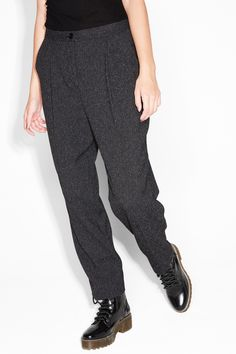 Monki Image 3 of Dressy trousers  in Grey