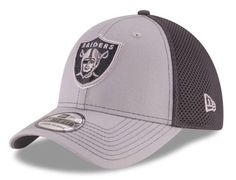 b508598d0ea Oakland Raiders New Era 39Thirty Grayed Out Neo 2 On Field M L Fitted Cap
