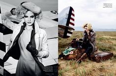 Amelia Earhart for Marie Claire spread
