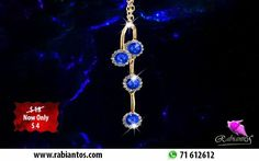 Mother's Day Offer On New Collection Four Blue Flowers Long Necklace Gold Plated 18K For 4$ Instead Of 18$  http://rabiantos.com/product/four-blue-flowers-long-necklace/