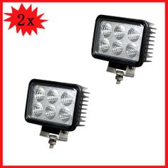 Wotefusi 2 PCS 6 18W 12V 24V LED Work Light Spot Lamp Off Road Beam Jeep Truck SUV LED Power:18Watt Epistar LED EACH 3W/PC Operating Volt:10-30Volt DC. Light output about 1350 lumen Color temperature:6000K. Waterproof rate:IP67 Beam:spot beam. LENS:PC LENS Housing color:Black About 30000 hours life time Size:150(L)x60x100mm.  #Wotefusi #Automotive_Parts_and_Accessories