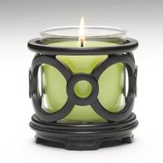 Ebony Escential Jar Holder by PartyLite® Candles P91413