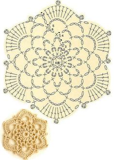 Crochet Bedspread Pattern, Crochet Snowflake Pattern, Crochet Snowflakes, Crochet Stitches Patterns, Doily Patterns, Graph Crochet, Crochet Diagram, Crochet Motif, Crochet Doilies