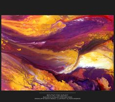 Abstract Art Painting 36x24 Original Contemporary Canvas Art Paintings by Destiny Womack  - dWo - Beyond Sunset