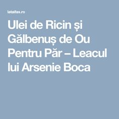 Ulei de Ricin și Gălbenuș de Ou Pentru Păr –  Leacul lui Arsenie Boca Acne Remedies, Natural Remedies, Mack Up, Natural Medicine, Just Do It, Good To Know, Hair Goals, Curly Hair Styles, Hair Makeup
