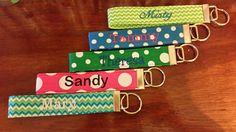 Personalized Fabric Keychain, Keychain, Chevron Key Chain, Monogram Key Chain,Teacher Appreciation, Birthday Gift, Group Gift by JessicaJozefowicz on Etsy