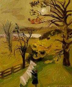 Fairfield Porter  Autumn Morning. 1949  Oil on masonite  30 x 25 inches