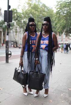 London Fashion Week street style. Photo by Kuba Dabrowski