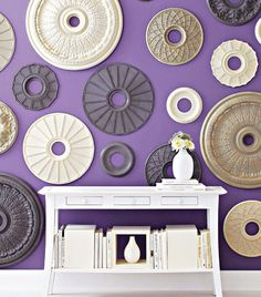 Ceiling medallions on your walls