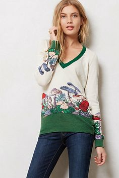 Mushroom Patch Pullover  #anthropologie