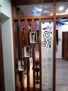 Glass Partition Designs, Living Room Partition Design, Living Room Divider, Pooja Room Door Design, Living Room Tv Unit Designs, Ceiling Design Living Room, Home Room Design, Wall Design, House Design