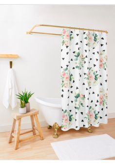 'AFE Teal and Orange Terrazzo' Shower Curtain by Amalia Ferreira-Espinoza Paris Bathroom Decor, Paris Home Decor, Parisian Bathroom, Terrazzo, Sell Your Art, Pink Roses, Triangle, Shabby Chic, Dots