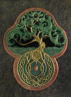 celtic tree design - could not track down original.  this is obviously Yggdrasil