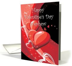 Valentine's Day Nephew Hearts and Stars on... | Greeting Card Universe
