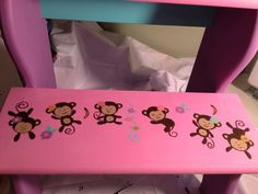 Items similar to Girl monkey step stool on Etsy & Elmo and Zoe hand painted step stool. Personalized. $65.00 via ... islam-shia.org
