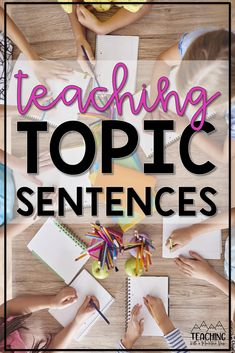 How do you teach topic sentences in upper elementary? This writing lesson is a staple in our classroom. Take a peek at my best practices and activities for lessons about teaching topic sentences in third, fourth, and fifth grade ELA. These literacy ideas are low prep and ready to implement today! Paragraph Writing, Narrative Writing, Informational Writing, Persuasive Writing, Writing Workshop, Teaching Writing, Writing Activities, Writing Prompts For Kids, Writing Lessons