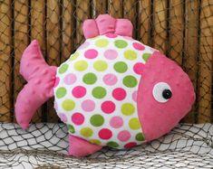 Fish pillow nautical nursery minky fish pillow under the sea pillow nautical decor coastal decor fish childs fish toy Fabric Toys, Minky Fabric, Fabric Crafts, Sewing Crafts, Sewing Projects, Nautical Baby Nursery, Nautical Pillows, Kids Pillows, Animal Pillows