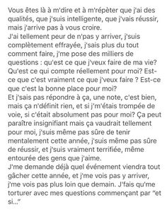 Et si… on se laissait allez, et si on n'y pensait plus – Best Quotes Bad Quotes, Quotes For Him, Quotes To Live By, Love Quotes, Deep Texts, Bullying Quotes, Wattpad Quotes, Pretty Quotes, French Quotes