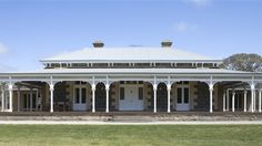 Mt Sturgeon Homestead - french doors onto veranda. Love these doors with the wood section at the bottom. Australian Architecture, Australian Homes, Building Exterior, Building A House, Beautiful Buildings, Beautiful Homes, Weatherboard House, Homestead House, Colonial Style Homes