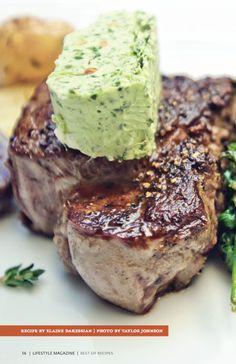 Grilled Flat Iron Steak with Pistachio Butter. #grilled #flat #iron #steak #meat #beef #pistachio #butter #visalia #lifestyle #magazine #recipe
