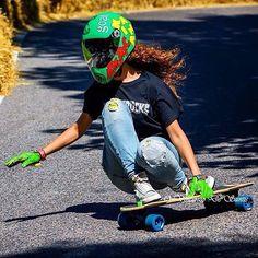 goatlongboards:  @cristinaverdu with Thor Hammer Green past year in Teolo, great pic by Vincenzo de Santis! #goatteamrider #goatlongboards #thorhammergreen @hawgswheels @beartrucks @holesom @atopicsupplies @kainaskateshop #prettygirlsdontskate #downhill #downhillskateboarding #freedom #freeride #longboard #longskate #longboarder #longboarding #skate #skatefast #skatelife  (en goat longboards)