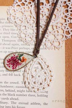 pendant and crochet pendant